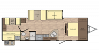 2018 Sunset Trail Super Lite 289QB Floor Plan