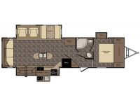 2015 Sunset Trail Reserve 32RL Floor Plan