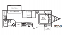2007 Fun Finder X X250BHS Floor Plan
