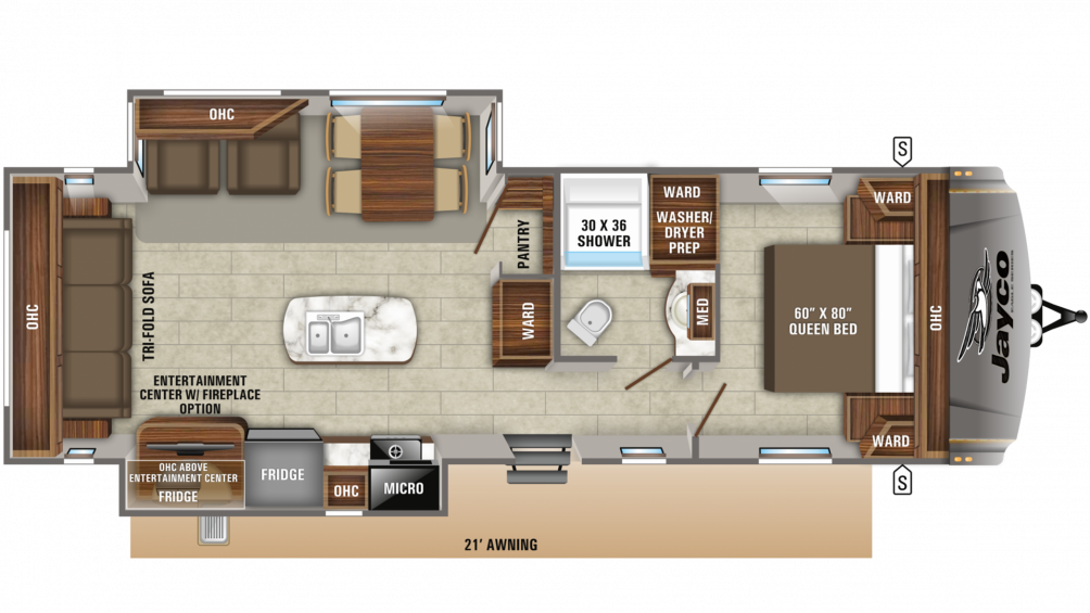 Eagle HT 280RSOK Floor Plan - 2020