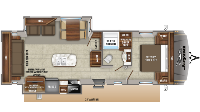 2020 Eagle HT 280RSOK Floor Plan