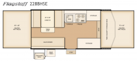 2017 Flagstaff SE 228BHSE Floor Plan