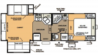 2008 Flagstaff Classic Super Lite 8526RLS Floor Plan