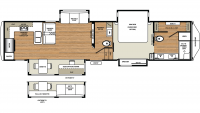 2019 RiverStone 39RKFB Floor Plan