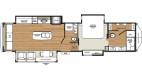 2019 Riverstone Legacy 38FB2 Floor Plan