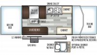 2019 Rockwood ESP 2280BHESP Floor Plan
