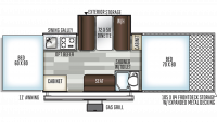 2019 Rockwood ESP 282TESP Floor Plan