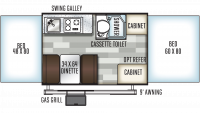 2019 Rockwood Freedom 1940LTD Floor Plan