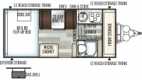 2019 Rockwood Hard Side A213HW Floor Plan