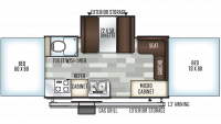 2019 Rockwood High Wall HW276 Floor Plan
