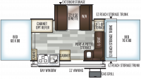 2019 Rockwood Premier 2317G Floor Plan