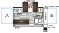 2019 Rockwood Premier 2514G Floor Plan
