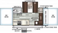 2019 Rockwood Premier 2516G Floor Plan