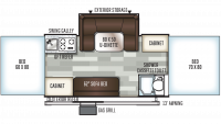 2019 Rockwood Premier 2716G Floor Plan