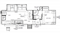 2019 Rockwood Ultra Lite 2881S Floor Plan