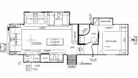 2019 Rockwood Ultra Lite 2888WS Floor Plan