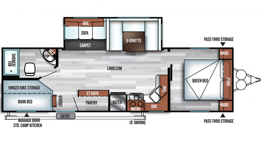 2019 Salem 27DBK Floor Plan Img