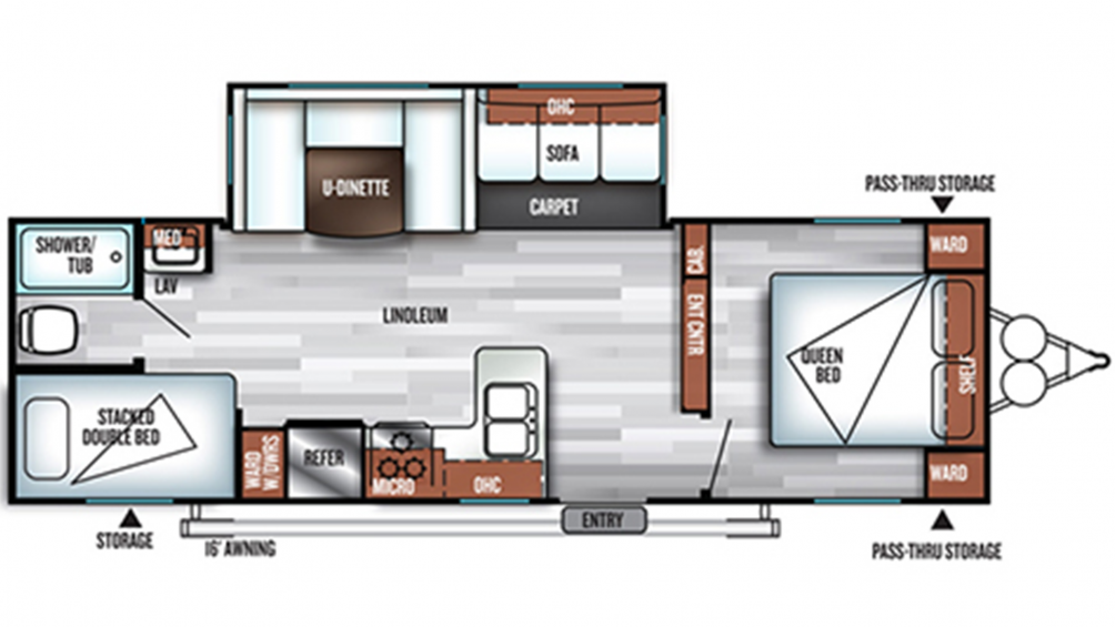 2019 Salem 27DBUD Floor Plan Img