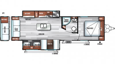 2019 Salem 27REI Floor Plan Img