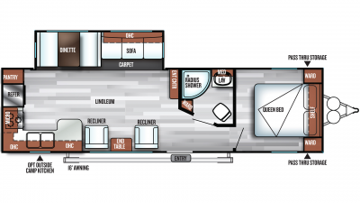 2019 Salem 27RKSS Floor Plan Img