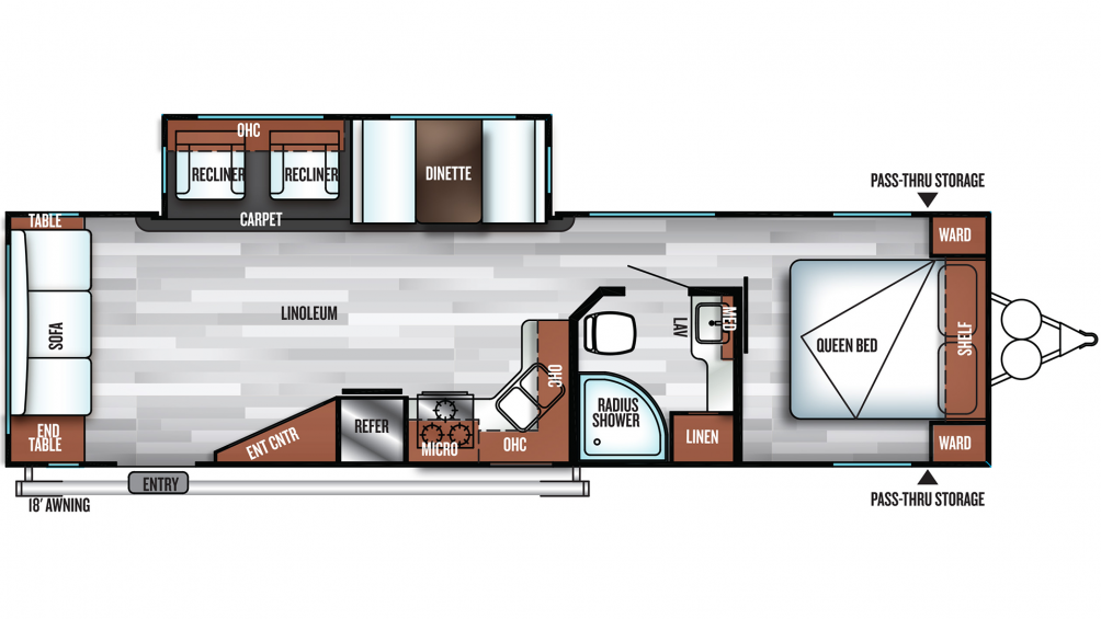 2019 Salem 28RLSS Floor Plan Img