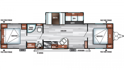 2019 Salem 37BHSS2Q Floor Plan Img
