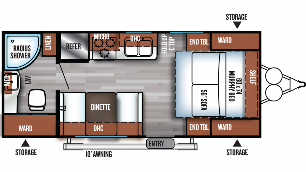 2019 Salem Cruise Lite 171RBXL Floor Plan Img