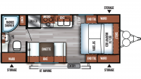 2019 Salem Cruise Lite 171RBXL Floor Plan
