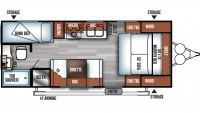 2019 Salem Cruise Lite 201BHXL Floor Plan