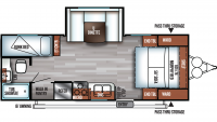 2019 Salem Cruise Lite 230BHXL Floor Plan