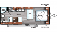 2019 Salem Cruise Lite 241QBXL Floor Plan