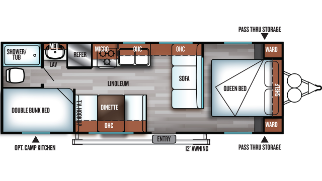 2019 Salem Cruise Lite 261BHXL Floor Plan Img