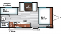 2019 Salem FSX 207BH Floor Plan