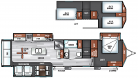 2019 Salem Villa Grand 42DLTS Floor Plan