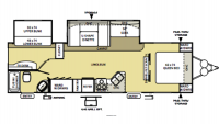 2009 Wildwood 29BHBS Floor Plan