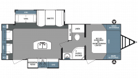 2019 Surveyor 266RLDS Floor Plan
