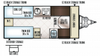 2019 Rockwood Hard Side A213HWESP Floor Plan