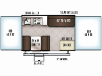 2019 Rockwood ESP 1970ESP Floor Plan