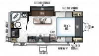 2019 Rockwood Mini Lite 2109S Floor Plan