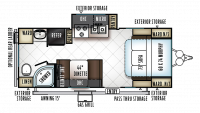 2019 Rockwood Mini Lite 2304KS Floor Plan