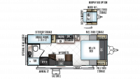 2019 Rockwood Mini Lite 2306 Floor Plan
