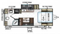 2019 Rockwood Mini Lite 2503S Floor Plan
