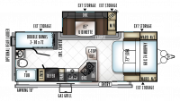 2019 Rockwood Mini Lite 2504S Floor Plan