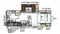 2019 Rockwood Mini Lite 2507S Floor Plan
