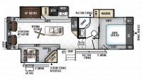 2018 Rockwood Signature Ultra Lite 8289WS Floor Plan