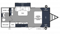 2019 Surveyor 201RBS Floor Plan