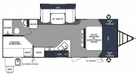 2019 Surveyor 245BHS Floor Plan