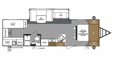 2019 Surveyor 295QBLE Floor Plan Img