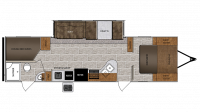 2019 Wildcat 282KBD Floor Plan