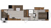 2019 Wildcat 28BH Floor Plan